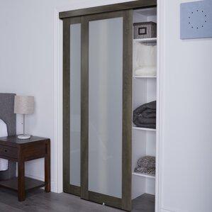 Baldarassario 1 Lite 2 Panel MDF Sliding Interior Doors