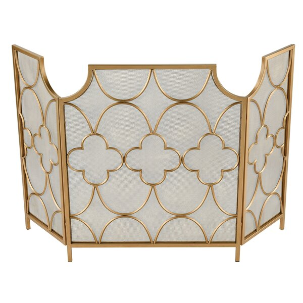 Magi 3 Panel Bifold Steel Fireplace Screen By Sterling Industries