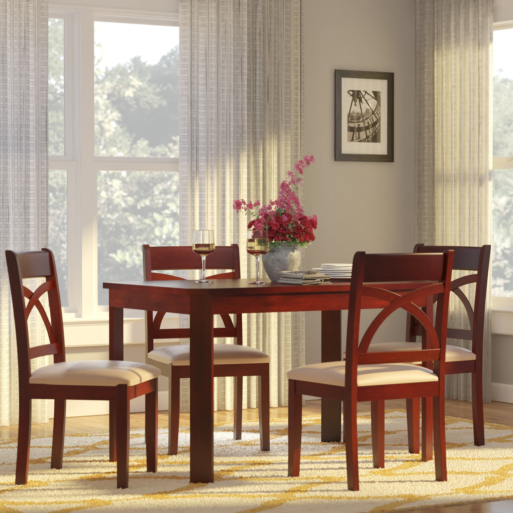& Andover Mills Abigail 5 Piece Dining Set u0026 Reviews | Wayfair