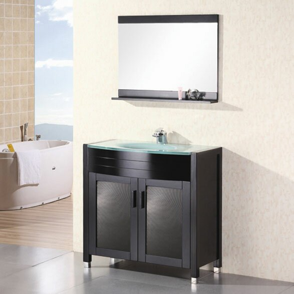 Remi 36 Single Bathroom Vanity Set with Mirror by Home Loft ConceptsRemi 36 Single Bathroom Vanity Set with Mirror by Home Loft Concepts