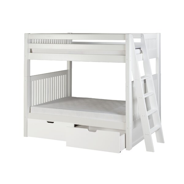 Oakwood Twin Over Twin Bunk Bed with Drawers by Harriet Bee