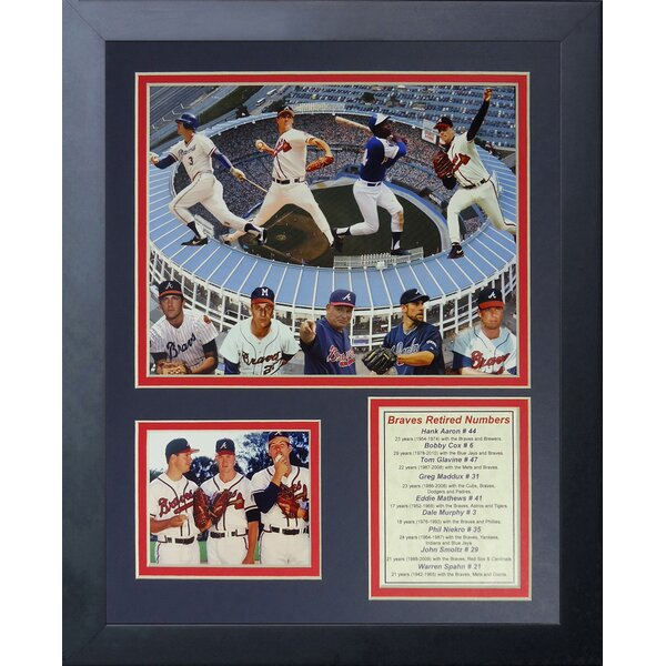 Atlanta Braves Greats Framed Memorabilia by Legends Never Die
