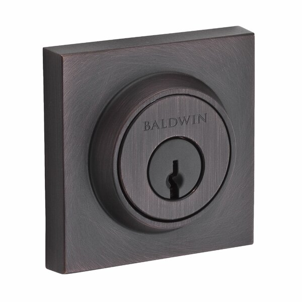 Contemporary Single Square Deadbolt by Baldwin