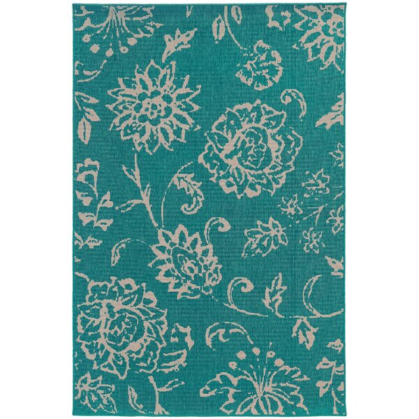 Seaside Teal/Beige Area Rug by Tommy Bahama Home