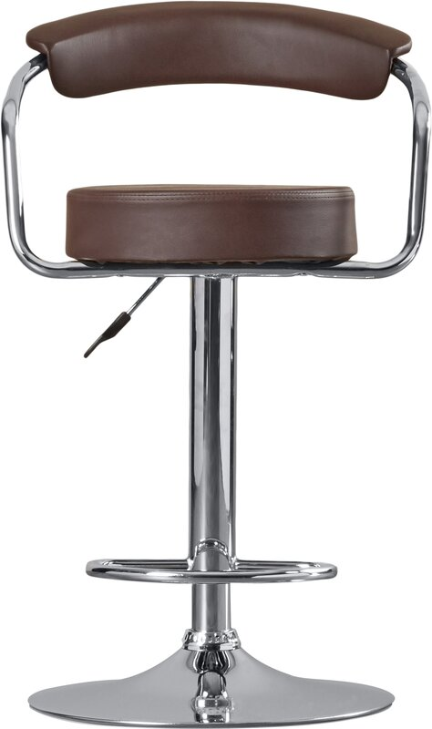 Wade Logan Adjustable Height Swivel Metal Bar Stool