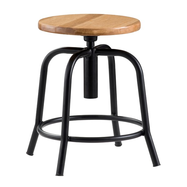 Wood Designer Height Adjustable Swivel Stool by National Public Seating