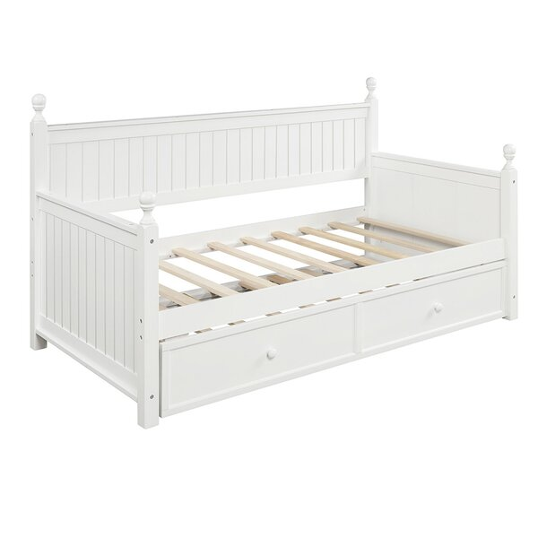 Haya Twin Solid Wood Daybed With Trundle By Red Barrel Studio