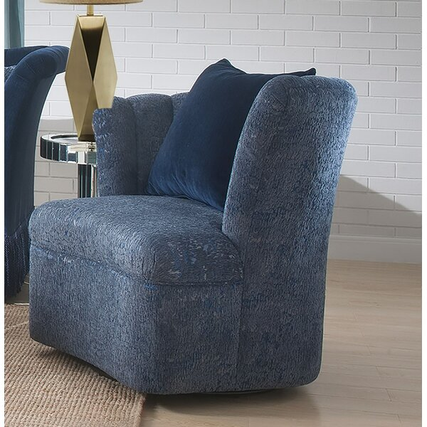 Reyes Swivel Slipper Chair By Everly Quinn Purchase