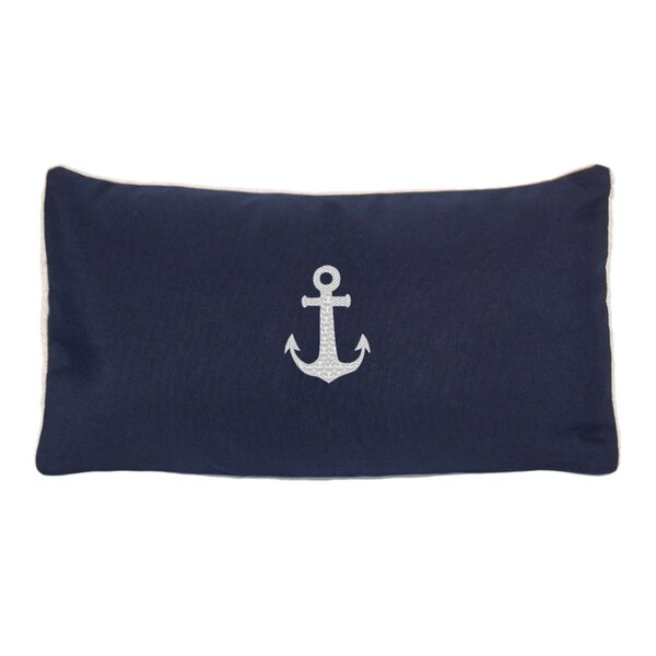 Morado Anchor Beach Outdoor Sunbrella Lumbar Pillow by Beachcrest Home