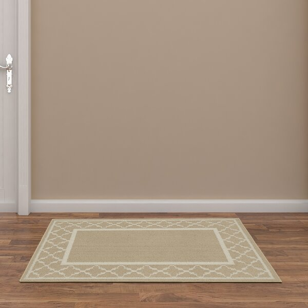 Moroccan Frame Tan/Ivory Area Rug by Garland Rug