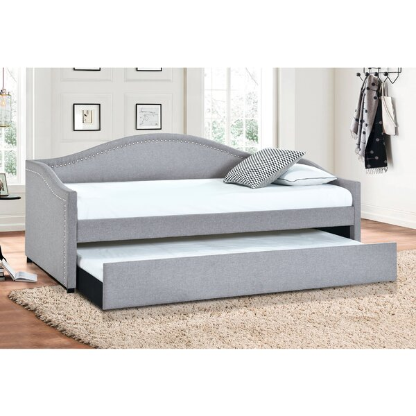 Cardi Camelback Twin Daybed With Trundle By Winston Porter