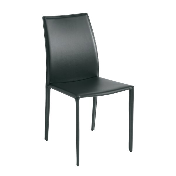 Woodfin Leather Upholstered Dining Chair by Ebern Designs