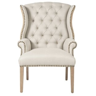 Rouet Tufted Wing back Chair by One Allium Way