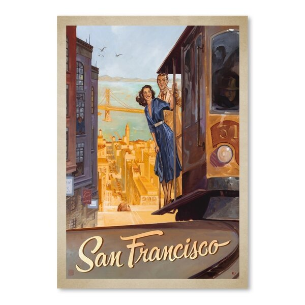San Francisco Vintage Advertisement by East Urban Home