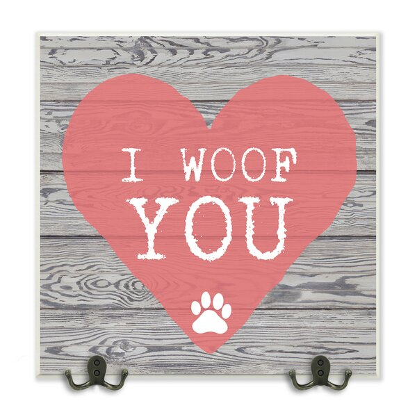 I Woof You Pink Heart on Wood Graphic Wall Plaque by Stupell Industries