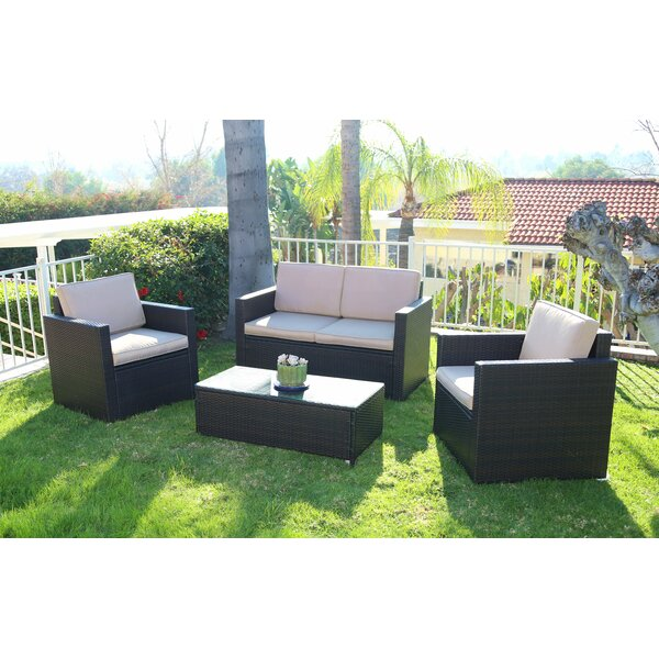 Majewski 4 Piece Sofa Set with Cushions by Orren Ellis