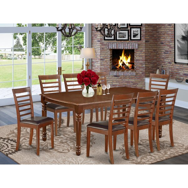 Leta 9 Piece Extendable Solid Wood Dining Set By Alcott Hill