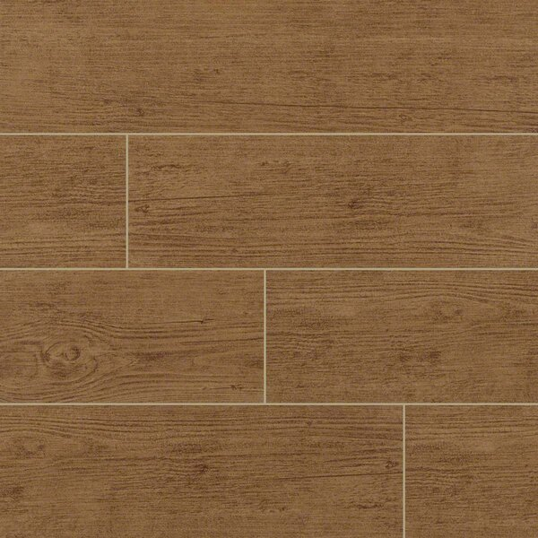 Sonoma Palm 6 x 24 Ceramic Wood Tile in Tan by MSI