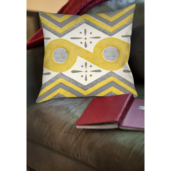 Salzman Printed Throw Pillow by Latitude Run