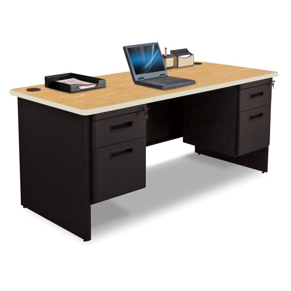Pronto Double Pedestal and Box / File Computer Desk by Marvel Office Furniture