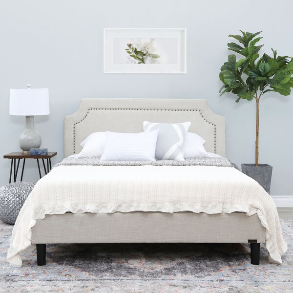 Rios Queen Upholstered Platform Bed by Charlton Home