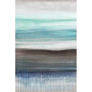 Shoreline Painting Print on Canvas by Latitude Run