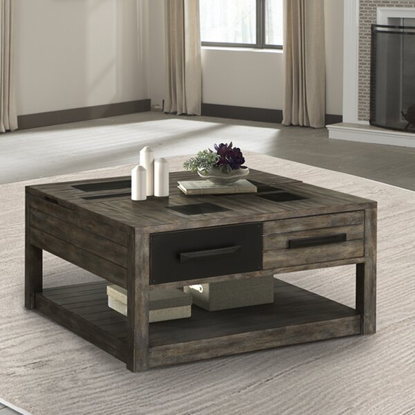 Jovanni Lift Top Floor Shelf Coffee Table With Storage By Foundry Select