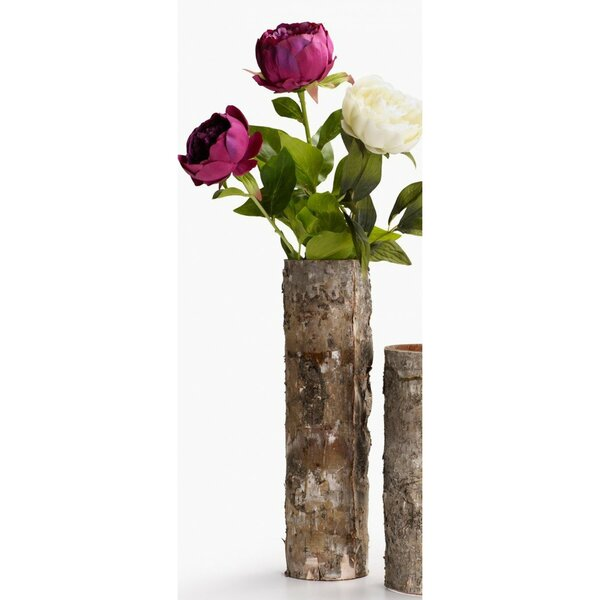 Lusher Birch Bark Glass Table Vase by Millwood Pines