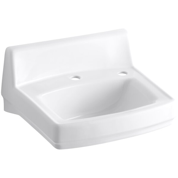 Greenwich Ceramic 21 Wall Mount Bathroom Sink by Kohler