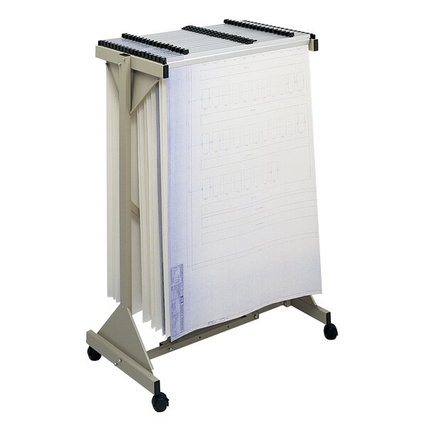 Safco Sheet File Mobile Plan Hanging Filing Cart by Safco Products Company