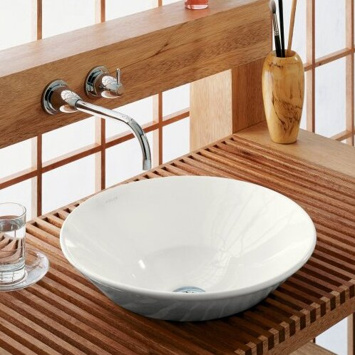 Conical Ceramic Circular Vessel Bathroom Sink by Kohler