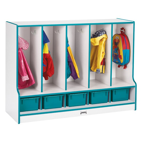 Rainbow Accents 2 Tier 5 Wide Coat Locker by Jonti-Craft