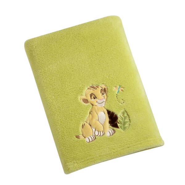 Lion King Solid Coral Fleece Blanket with Applique by Disney