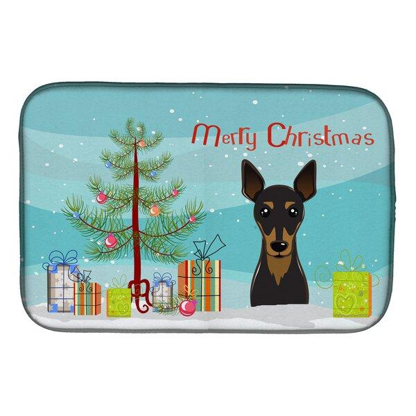 Christmas Tree and Min Pin Dish Drying Mat by Caroline's Treasures