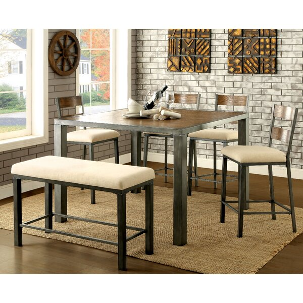 Thurman 6 Piece Counter Height Dining Table by Red Barrel Studio