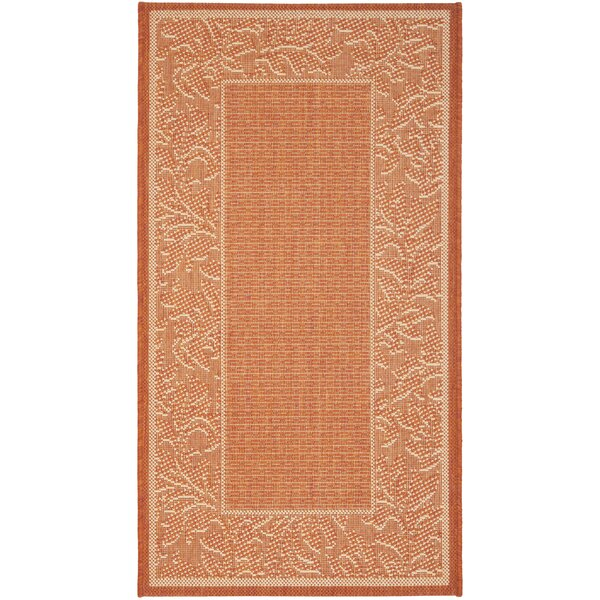 Octavius Terracotta/Natural Outdoor Rug by Charlton Home