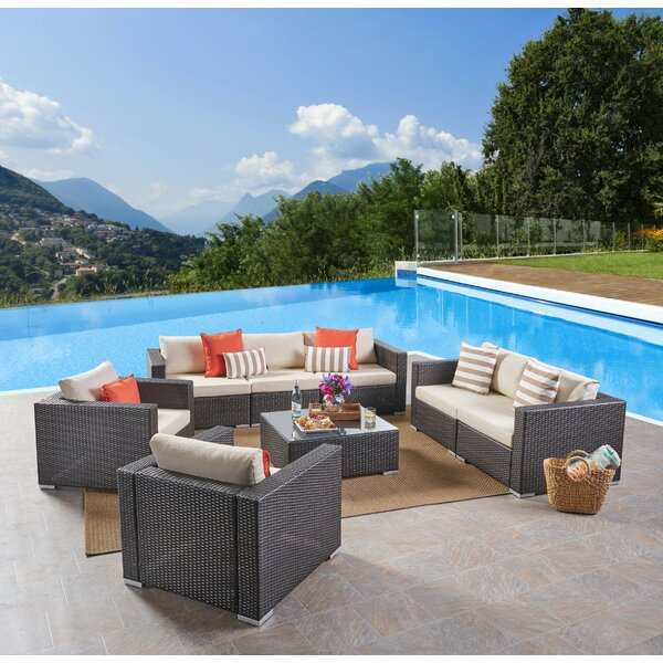 Cabral 5 Piece Sofa Seating Group with Cushions by Sol 72 Outdoor