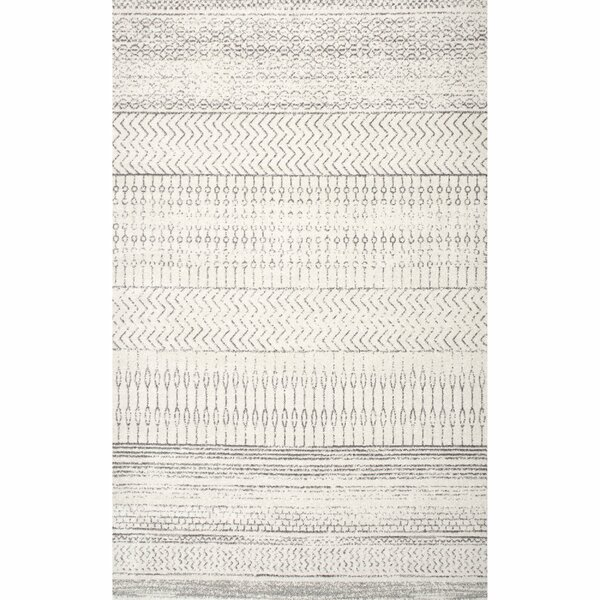 Jettie Gray Area Rug by Bungalow Rose