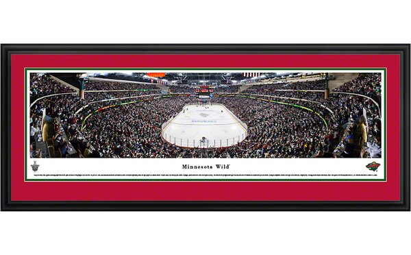 NHL End Zone Deluxe Framed Photographic Print by Blakeway Worldwide Panoramas, Inc