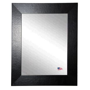 Brayden Studio Flemming Rectangle Leather Wall Mirror