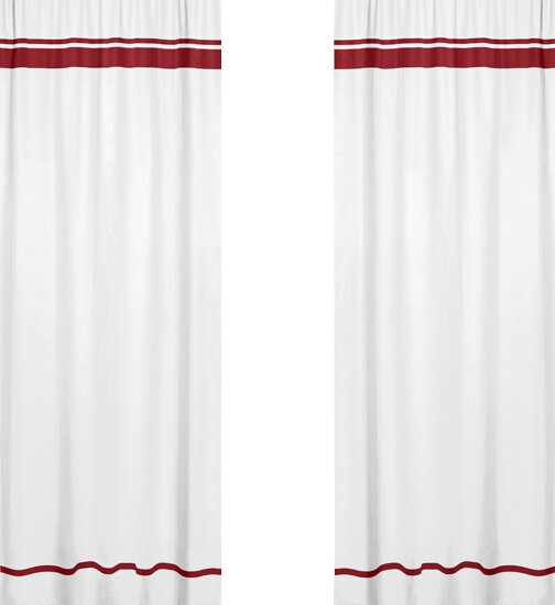 Hotel Striped Semi-Sheer Pinch Pleat Curtain Panels (Set of 2) by Sweet Jojo Designs