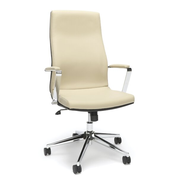 Hollaway High Back Bonded Manager Leather Executive Chair by Orren Ellis