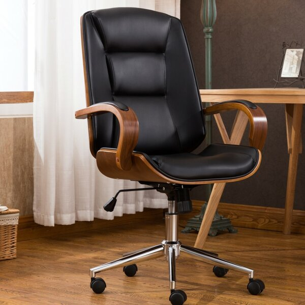 Turco Adjustable Office Low-Back Executive Chair by George Oliver