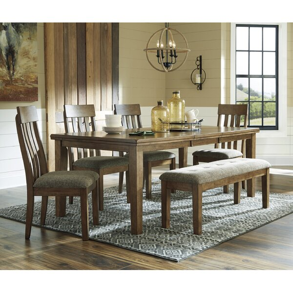 Fia 6 Piece Extendable Dining Set by Millwood Pines Millwood Pines