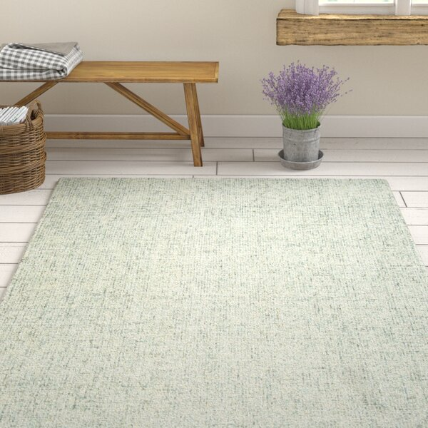 Marsh Hand-Tufted Wool Green Area Rug by Gracie Oaks