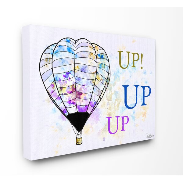 Kleckner Watercolors Up Up Up Hot Air Balloons Canvas Wall Art by Zoomie Kids