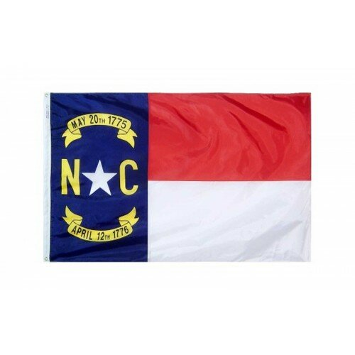 North Carolina Glo Traditional Flag by NeoPlex