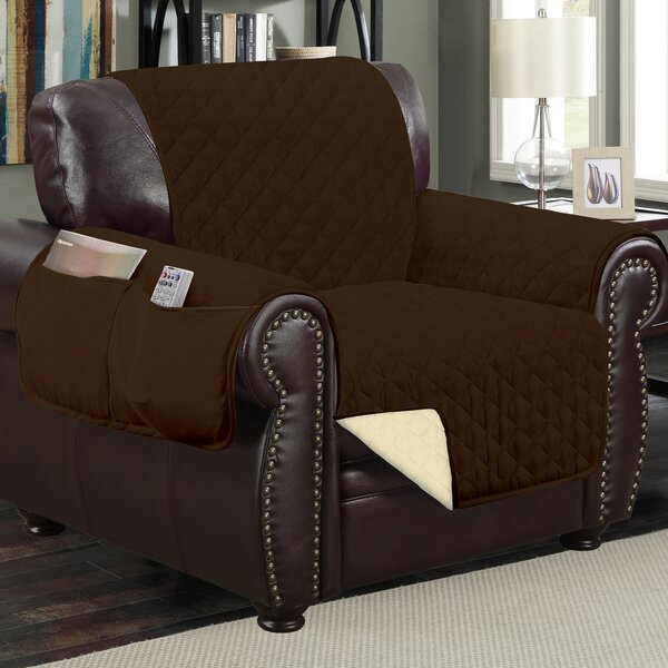 Deluxe Hotel Box Cushion Armchair Slipcover by Win