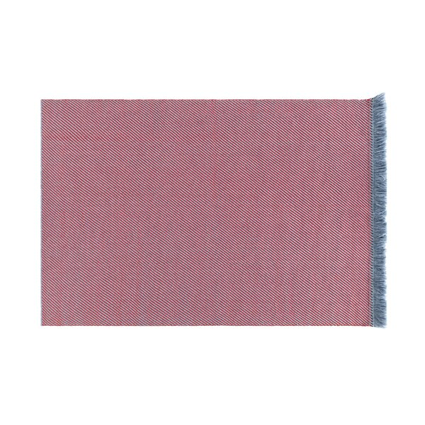 Garden Layers Diagonal Gray/Red Indoor/Outdoor Area Rug by Gandia Blasco