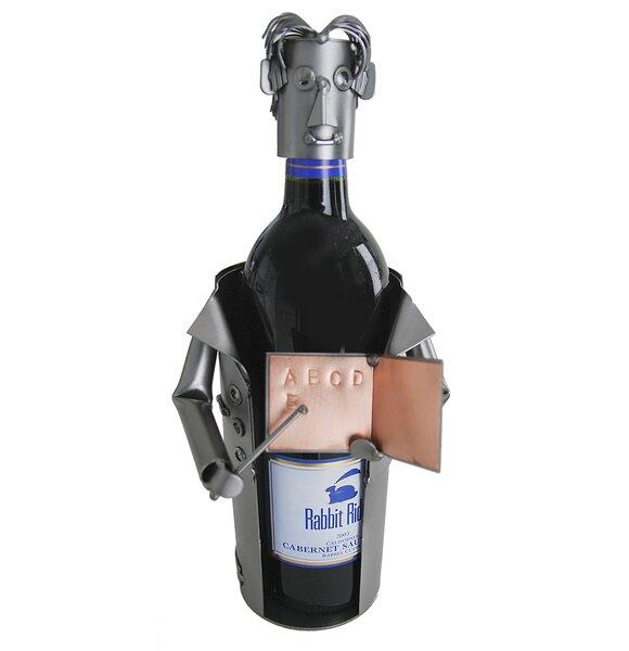 Teacher Male 1 Bottle Tabletop Wine Rack by H & K SCULPTURES
